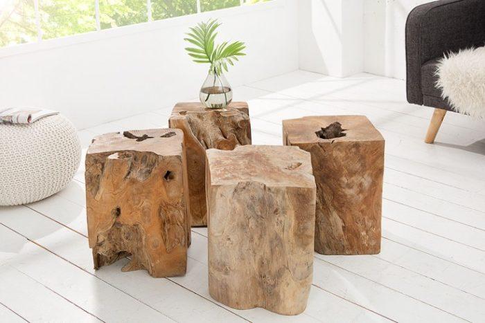 Stolik z drewna tekowego WOOD 30cm