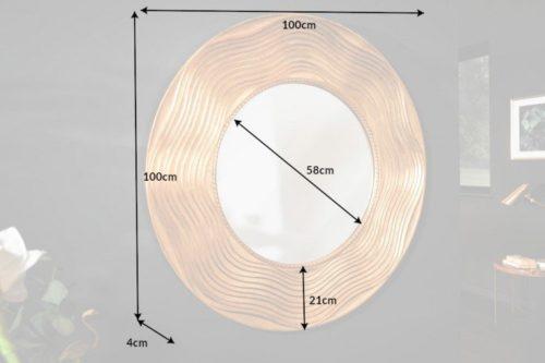 Lustro ścienne CIRCLE 100cm złote okrągłe