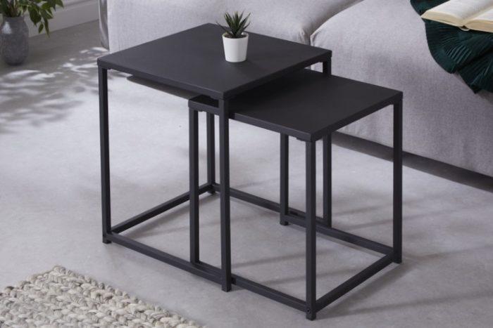 Zestaw dwóch stolików DURA STEEL styl industrialny