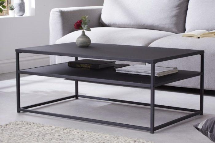 Industrialny stolik kawowy DURA STEEL 100cm czarny
