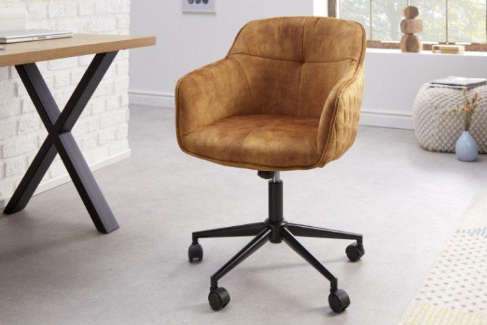 Krzesło biurowe EUPHORIA musztardowe
