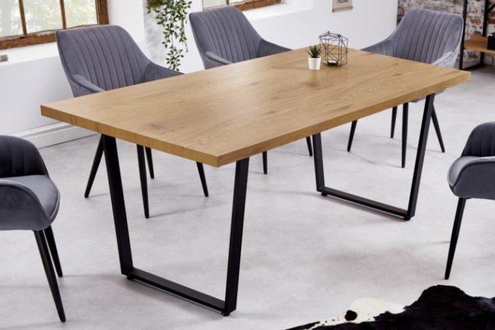 stół designerski LOFT 180 cm dębowy