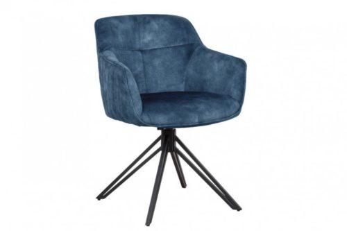 Krzesło granatowe EUPHORIA granatowe aksamit