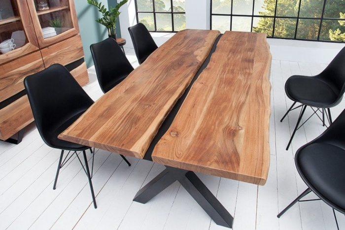 Stół do jadalni z litego drewna AMAZONAS 200cm akacja
