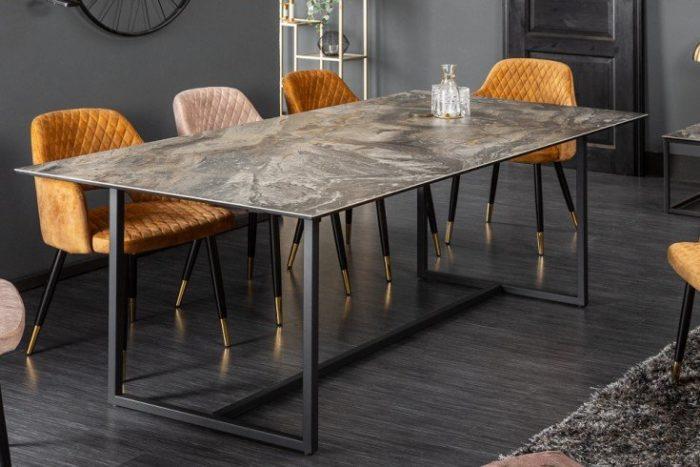 Nowoczesny stół do jadalni SYMBIOSE 200 cm ciemnoszary blat
