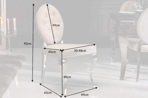 Stylowe krzesło aksamitne MODERN BAROCK beżowe