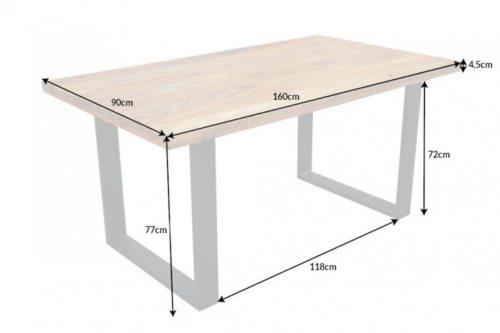 Industrialny stół do jadalni IRON CRAFT 160cm drewno Sheesham