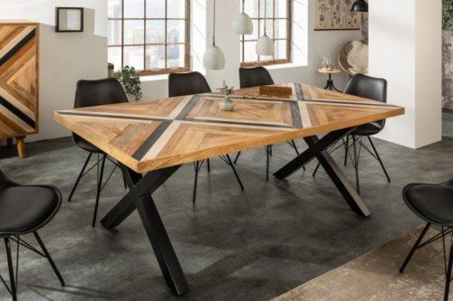 Industrialny stół do jadalni LONG ISLAND 160cm drewno mango