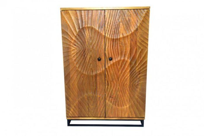 Masywna komoda barowa SCORPION 141cm drewno mango