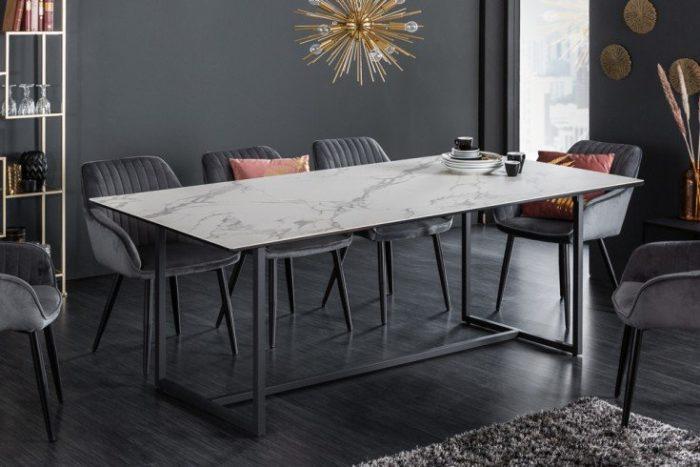 Nowoczesny stół do jadalni SYMBIOSE 200 cm biały blat