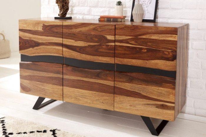 Masywna komoda AMAZONAS 148 cm z drewna sheesham