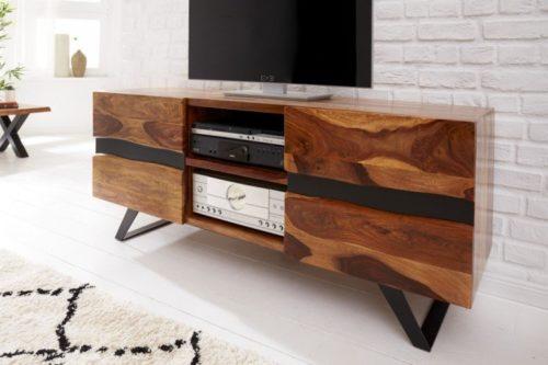 Szafka pod telewizor AMAZONAS z litego drewna sheesham 160cm