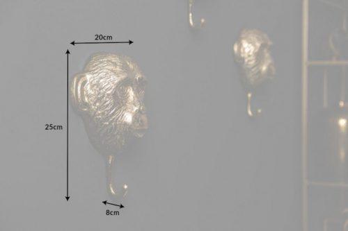 Ekstrawagancki komplet haczyków złote małpki