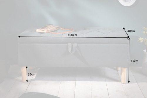 Ławka z pikowaniem Chesterfield CASTLE 100 schowek do przechowywania