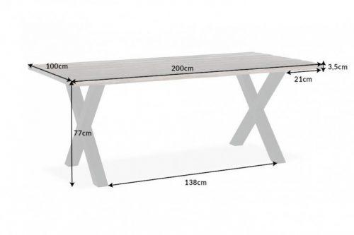 Solidny stół do jadalni GENESIS VINTAGE 200 cm drewno akacjowe
