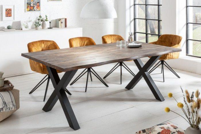 Solidny stół do jadalni GENESIS VINTAGE 160cm drewno akacjowe