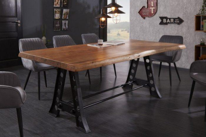 Solidny stół jadalniany MAMMUT INDUSTRIAL 220cm drewno akacjowe