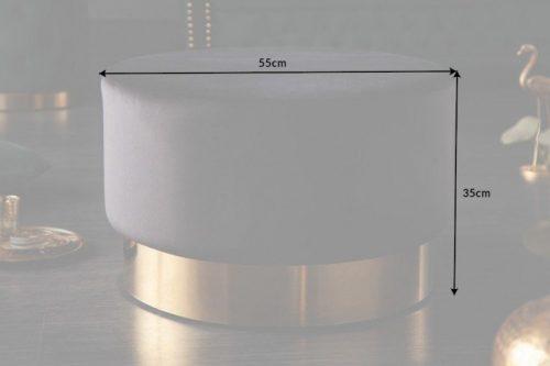 Elegancki stolik kawowy MODERN BAROQUE 55cm ciemnoszary