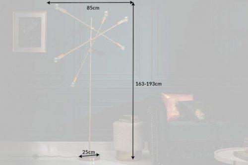 Elegancka lampa podłogowa VARIATION 193 cm złota