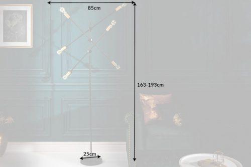 Lampa podłogowa VARIATION 193 cm czarna
