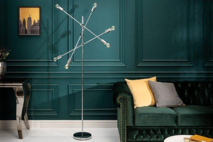 Elegancka lampa podłogowa VARIATION 193 cm srebrna