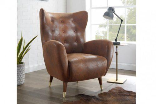 Elegancki fotel DON w kolorze antycznego brązu