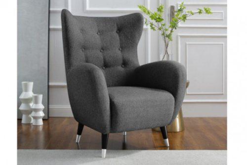 Elegancki fotel DON antracytowy