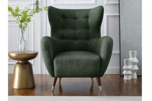 Elegancki fotel DON butelkowa zieleń