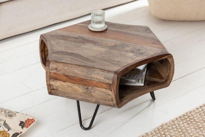 Stolik kawowy w stylu retro ORGANIC LIVING 72cm