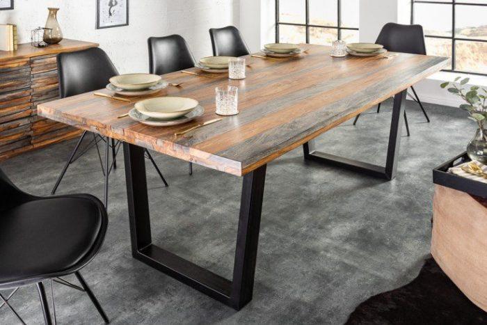 Masywny stół do jadalni FIRE & EARTH 180cm drewno sheesham