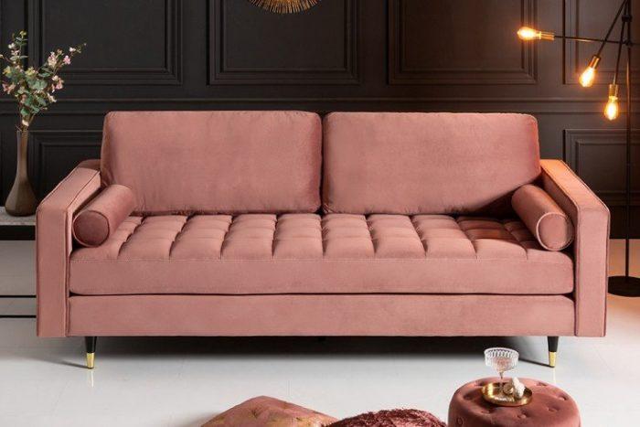 Sofa VELVET 225 aksamitna sofa 3-osobowa