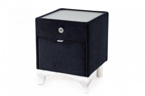 Elegancki stolik nocny VERSAILLES 43cm czarny aksamit
