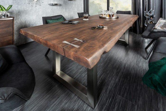 Solidny stół do jadalni MAMMUT ARTWORK 220cm akacja