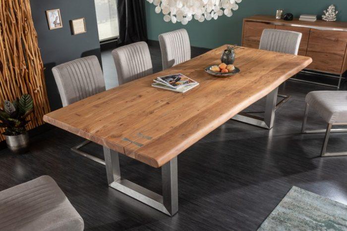 Solidny stół jadalniany MAMMUT ARTWORK 220cm akacja