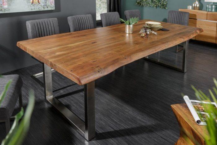 Stół do jadalni z litego pnia drzewa MAMMUT NATURE 240cm akacja