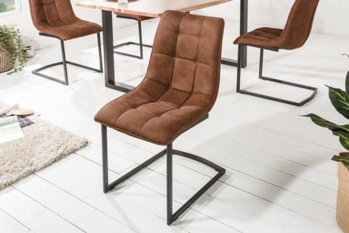 Krzesło MIAMI brązowe płozy