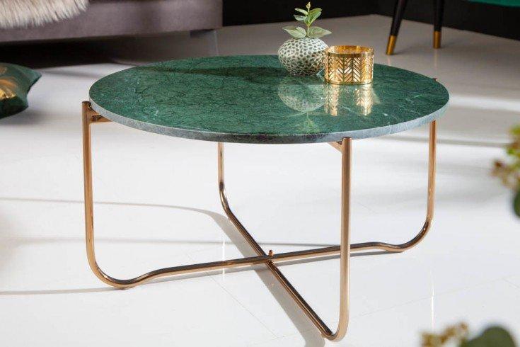 Stolik NOBLE 62 cm zielony marmur