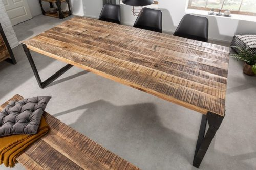 Industrialny stół FACTORY 160 cm lite drewno