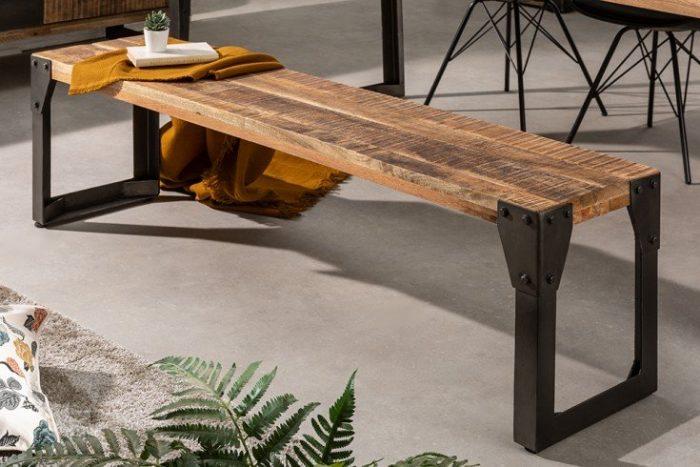 Ławka FACTORY industrialny styl 160 cm