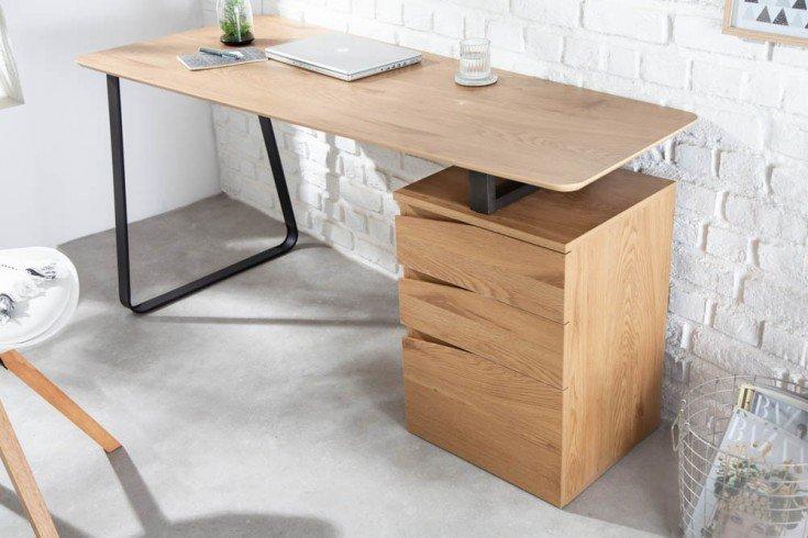 Biurko Studio 160 cm dąb szuflady