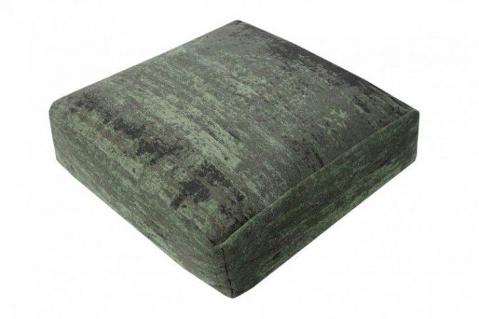 Designerska poduszka podłogowa MODERN ART odcień zieleni i brązu