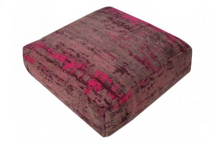 Designerska poduszka podłogowa MODERN ART odcień czerwieni i różu