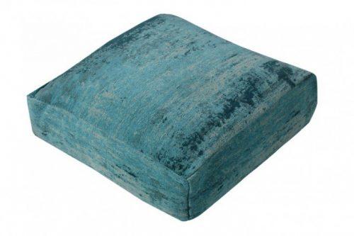 Designerska poduszka podłogowa MODERN ART odcień turkusu