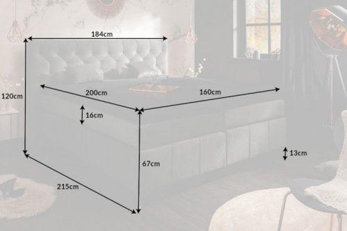 Łoże EUPHORIA 160x200cm z materacem sprężynowym