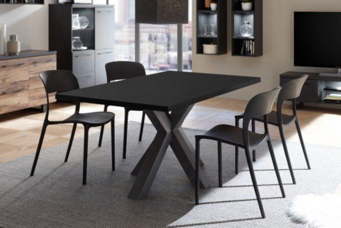 Rozkładany stół MONTREAL 160-210cm czarny