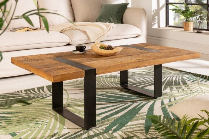 Stolik kawowy IRON CRAFT 120cm drewno mango