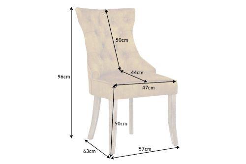 Eleganckie krzesło CASTLE w kolorze musztardowym