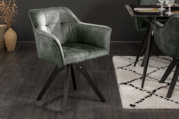 Obrotowe krzesło LOFT zielono-szare