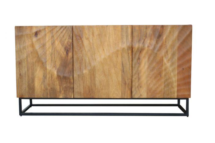 Kredens SCORPION 140cm brązowe drewno mango