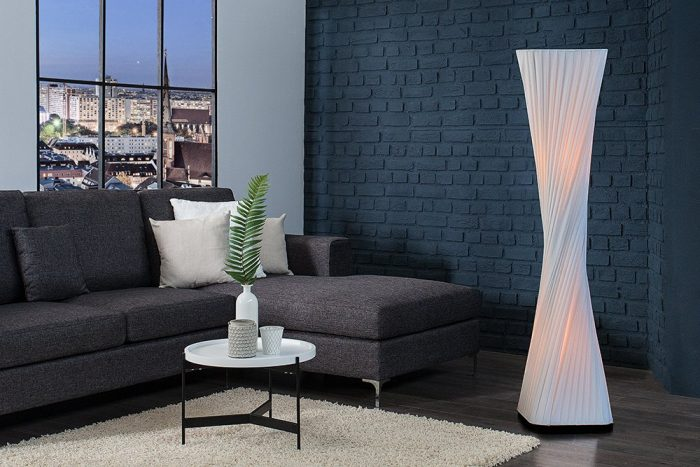 Nowoczesna lampa podłogowa PARIS X 120cm biała